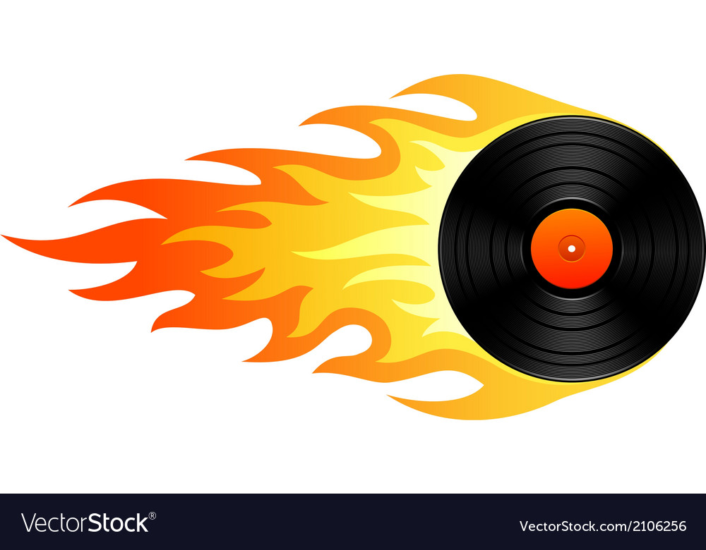 Flaming vinyl vector | Price: 1 Credit (USD $1)
