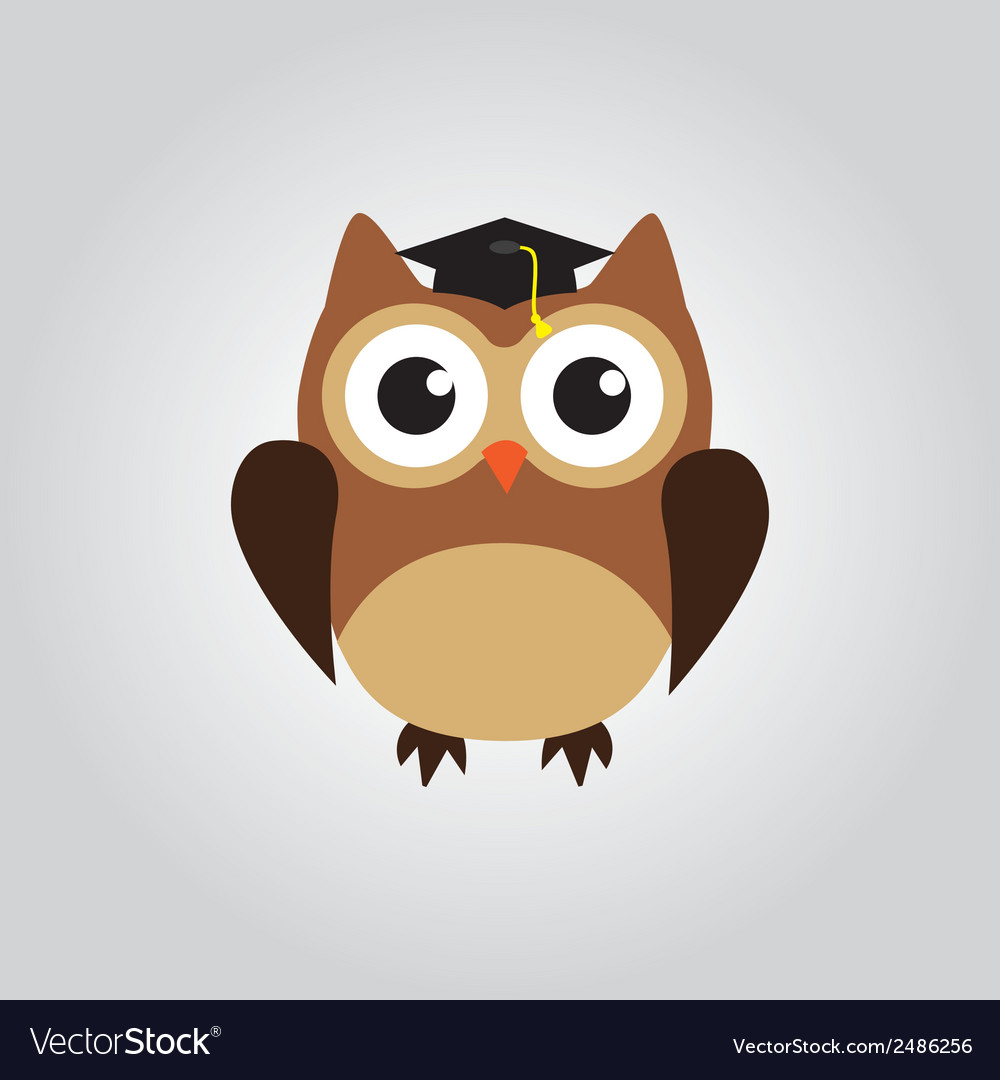Owl grad vector | Price: 1 Credit (USD $1)