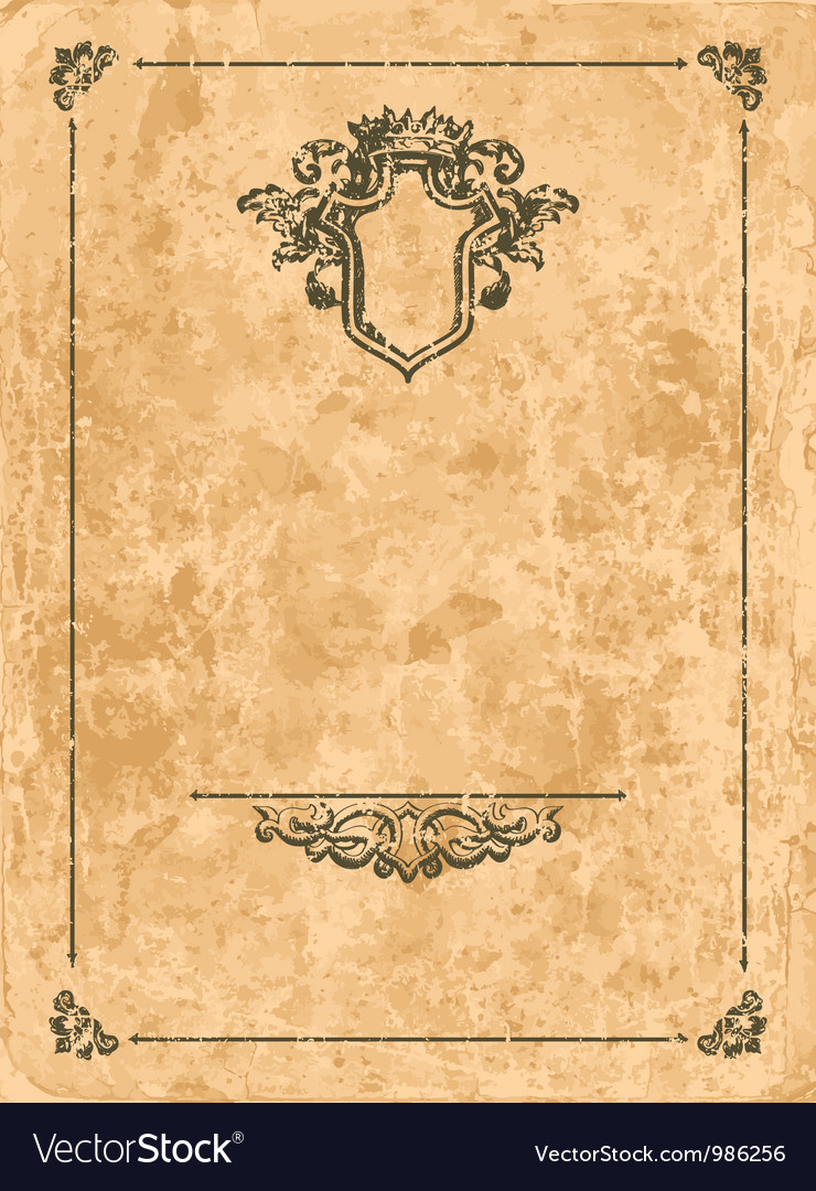 Vintage frame on old paper sheet vector | Price: 1 Credit (USD $1)