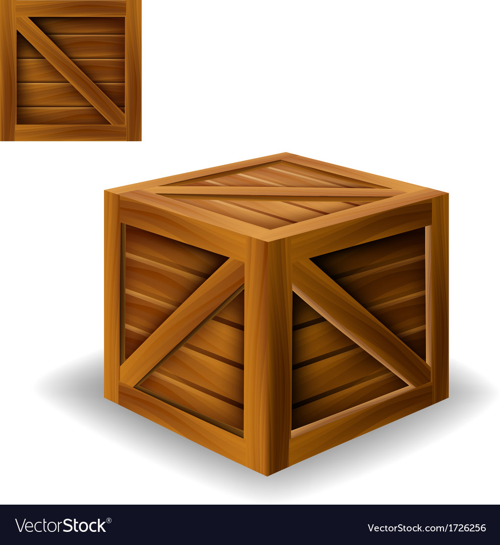 Wood box vector | Price: 1 Credit (USD $1)