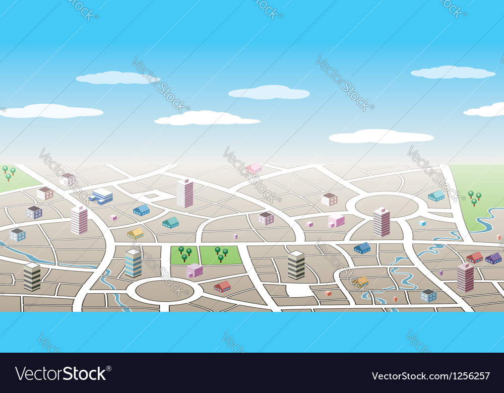 3d city map vector | Price: 1 Credit (USD $1)