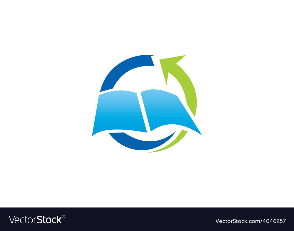 Book education arrow process logo vector | Price: 1 Credit (USD $1)