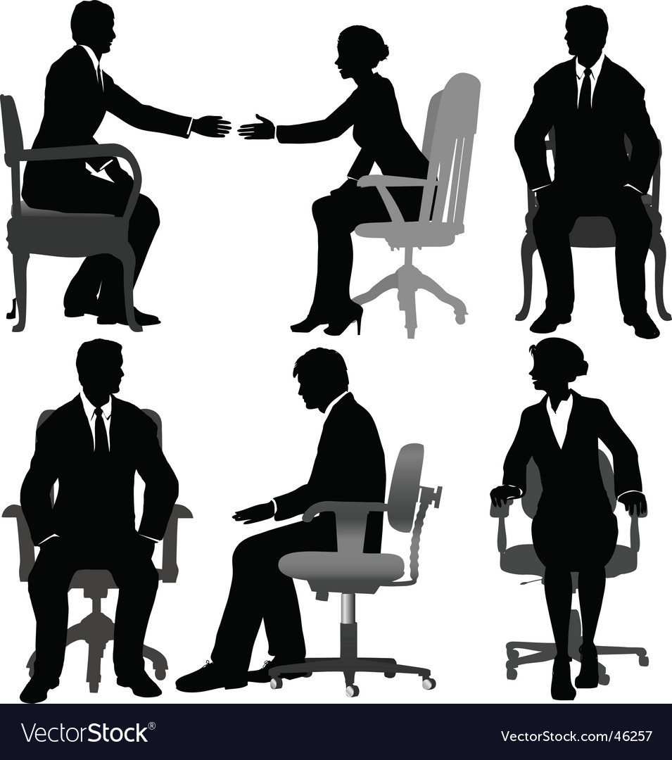 Business men and business women vector | Price: 1 Credit (USD $1)