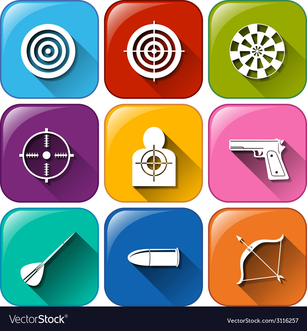 Buttons with the different sports that requires vector | Price: 1 Credit (USD $1)