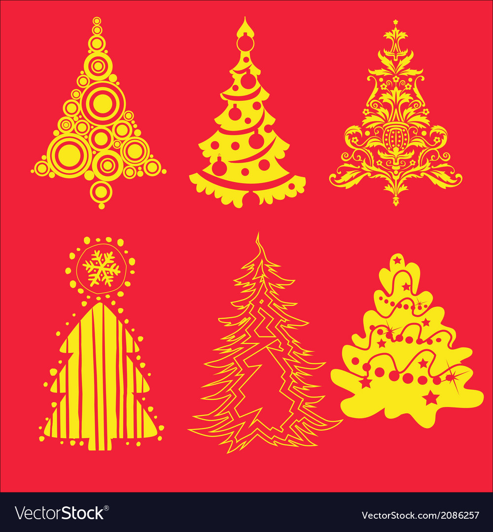 Christmas tree 3 vector | Price: 1 Credit (USD $1)