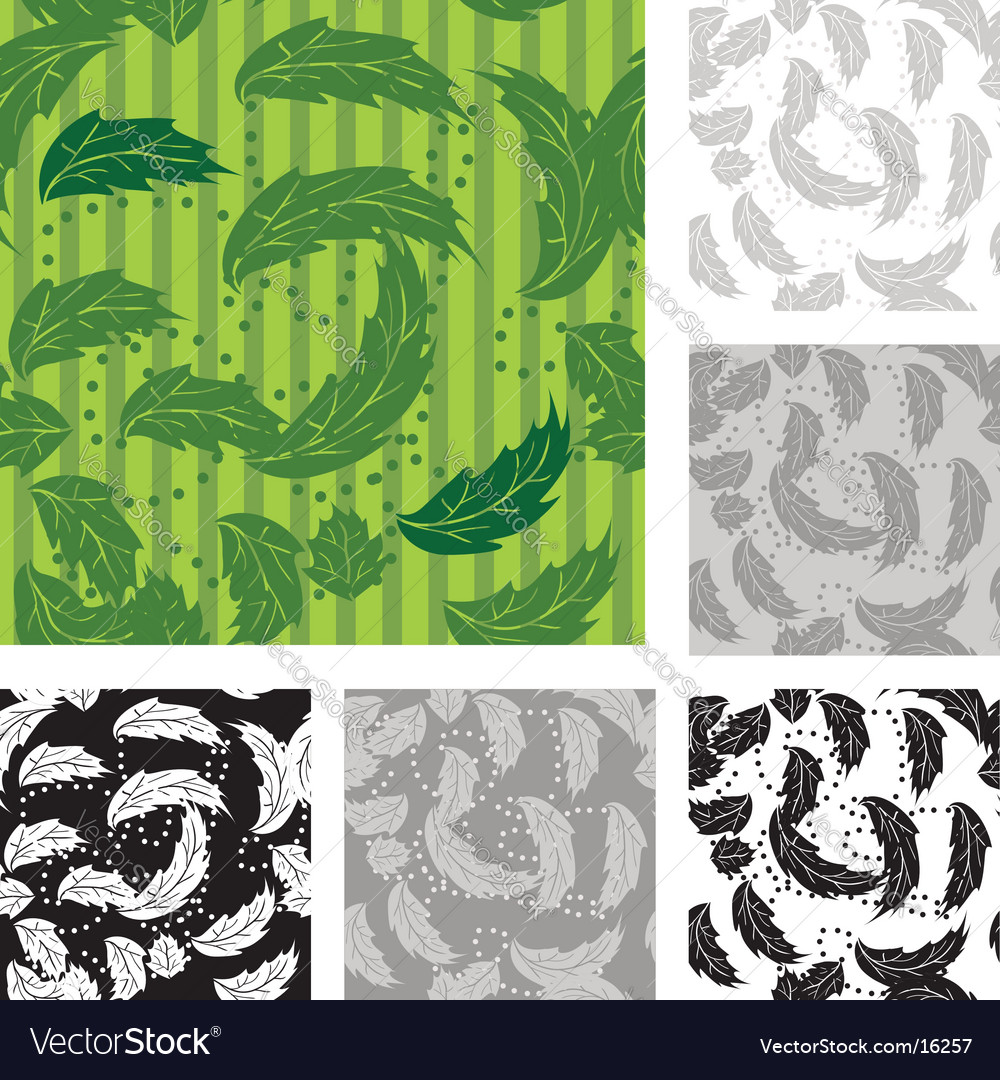 Foliage wallpaper pattern vector | Price: 1 Credit (USD $1)