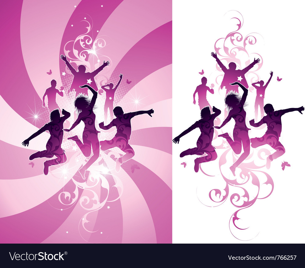 Pink people background vector | Price: 1 Credit (USD $1)