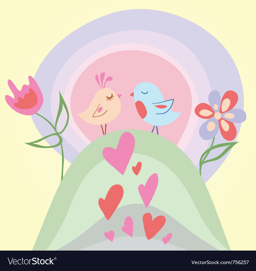Tiny love bird vector | Price: 1 Credit (USD $1)