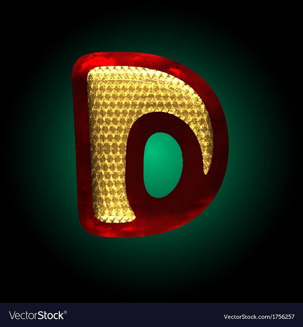 Velvet letter with gold vector | Price: 1 Credit (USD $1)