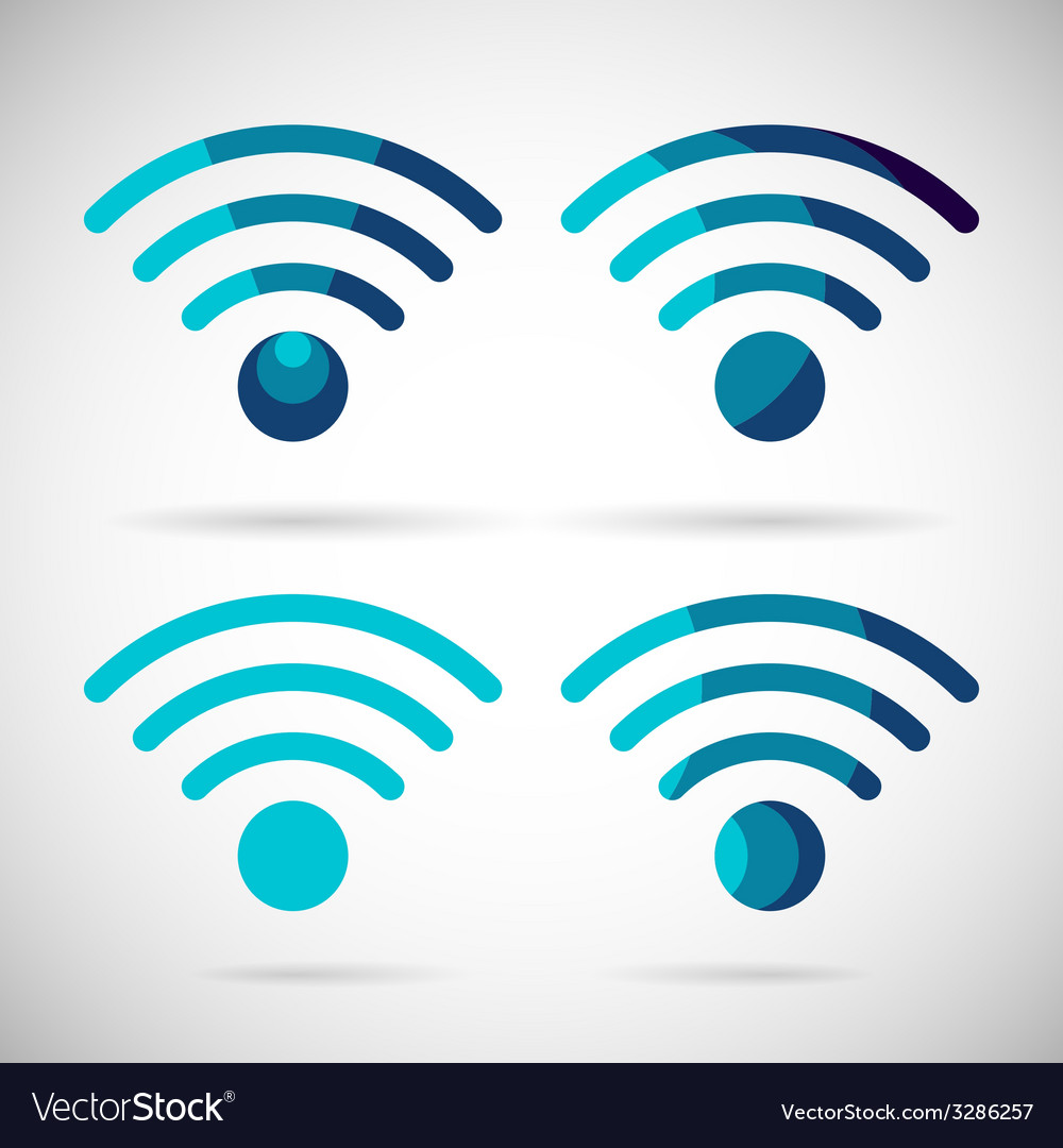 Wifi icon wireless internet connection flat design vector | Price: 1 Credit (USD $1)