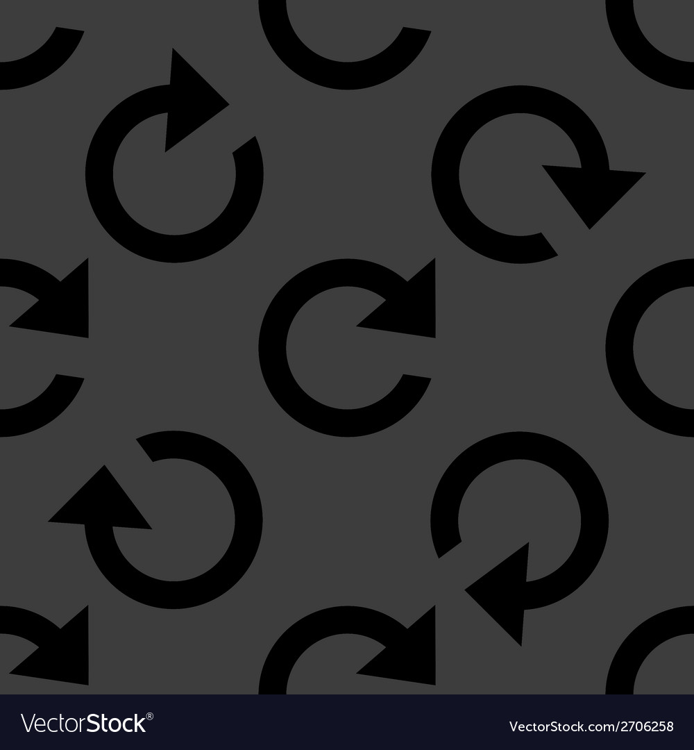 Arrow update web icon flat design seamless pattern vector | Price: 1 Credit (USD $1)