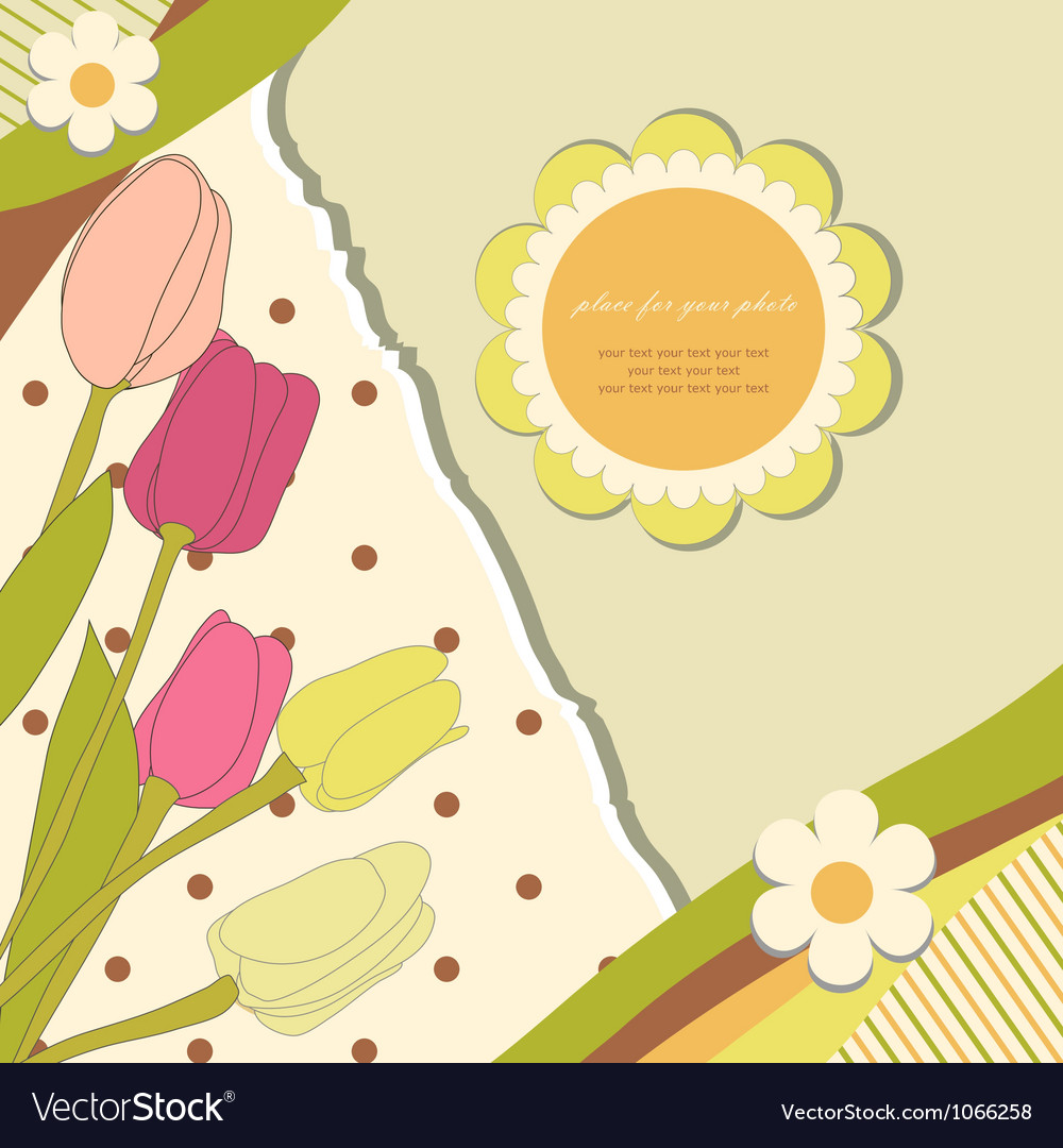 Baby flowers background vector | Price: 1 Credit (USD $1)