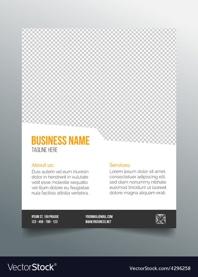 Business poster template - simple clean design vector | Price: 1 Credit (USD $1)
