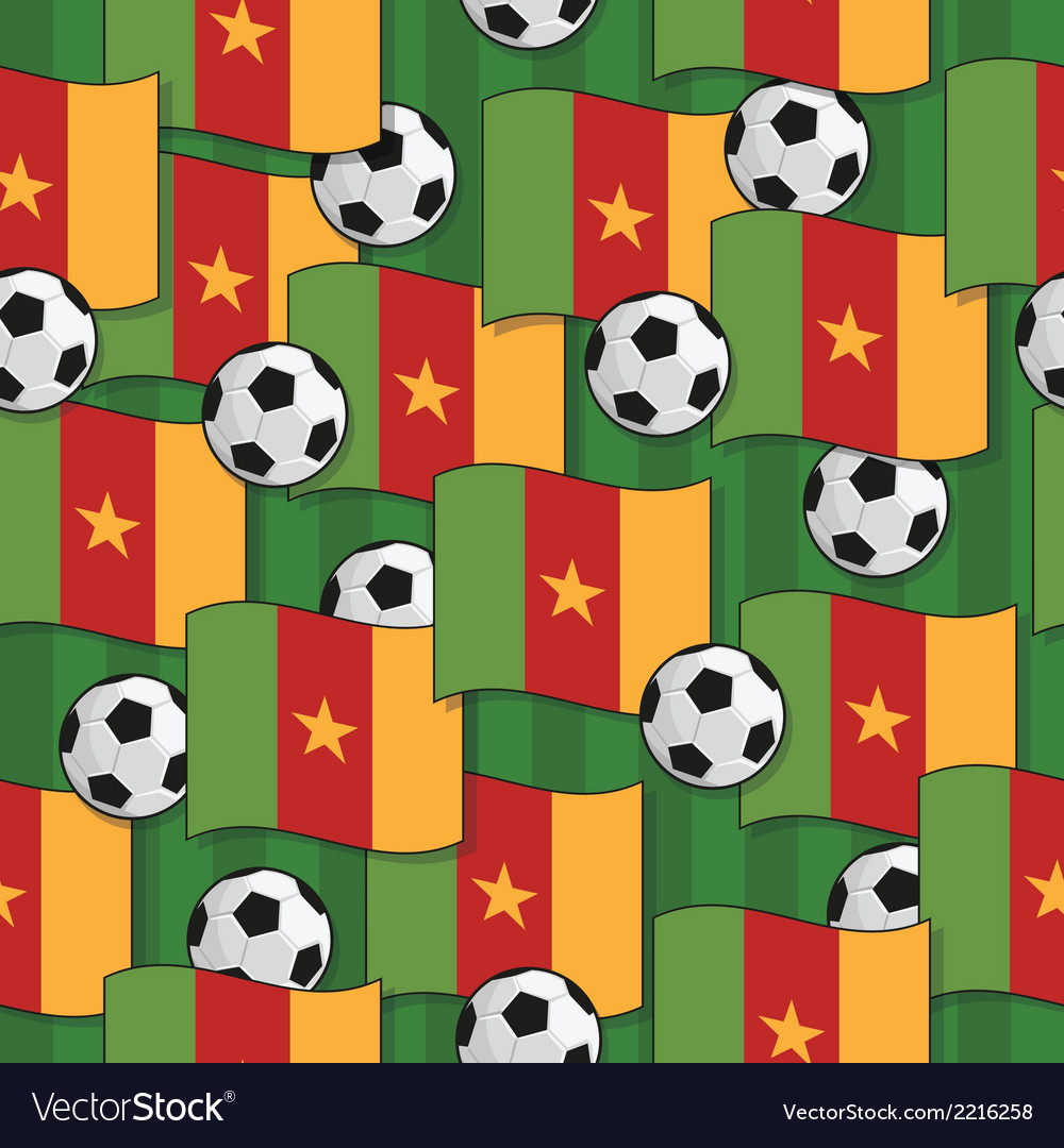 Cameroon football pattern vector | Price: 1 Credit (USD $1)
