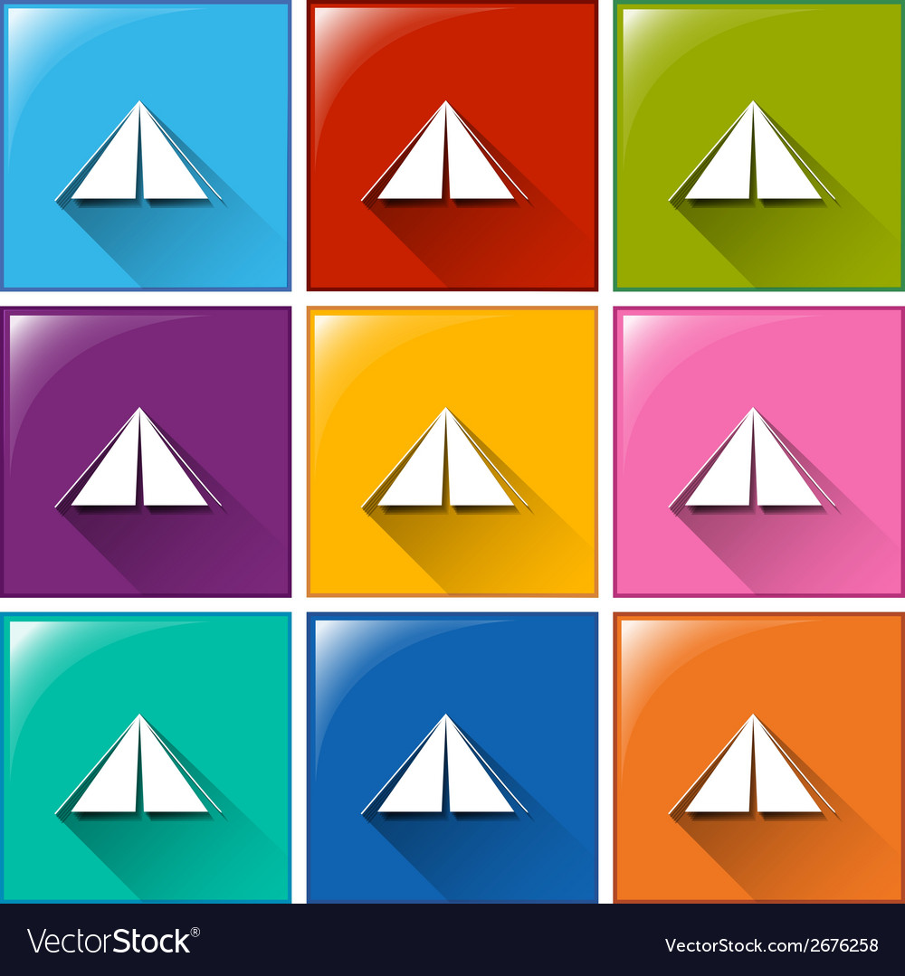 Camping tent icons vector | Price: 1 Credit (USD $1)