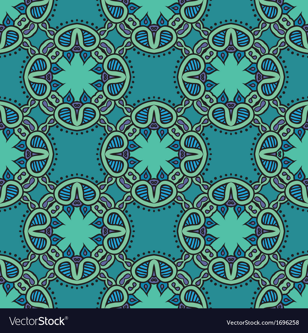 Colorful pattern with lacy ornament vector   Price: 1 Credit (USD $1)
