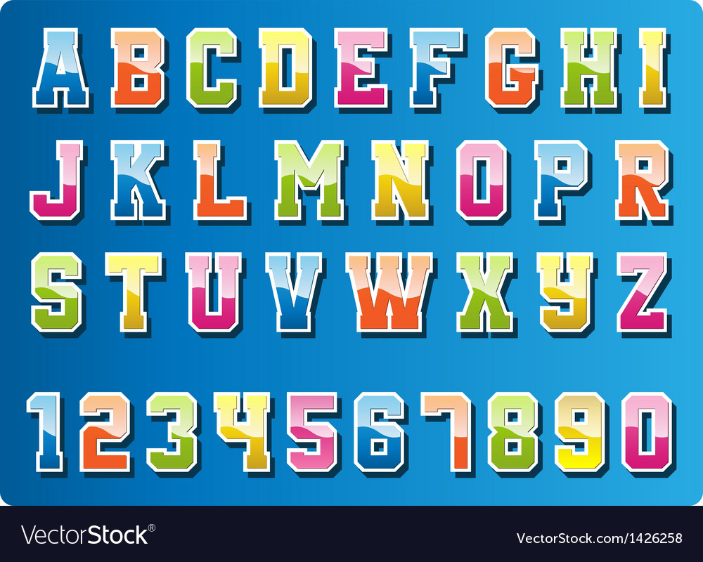 Colourful font vector | Price: 1 Credit (USD $1)