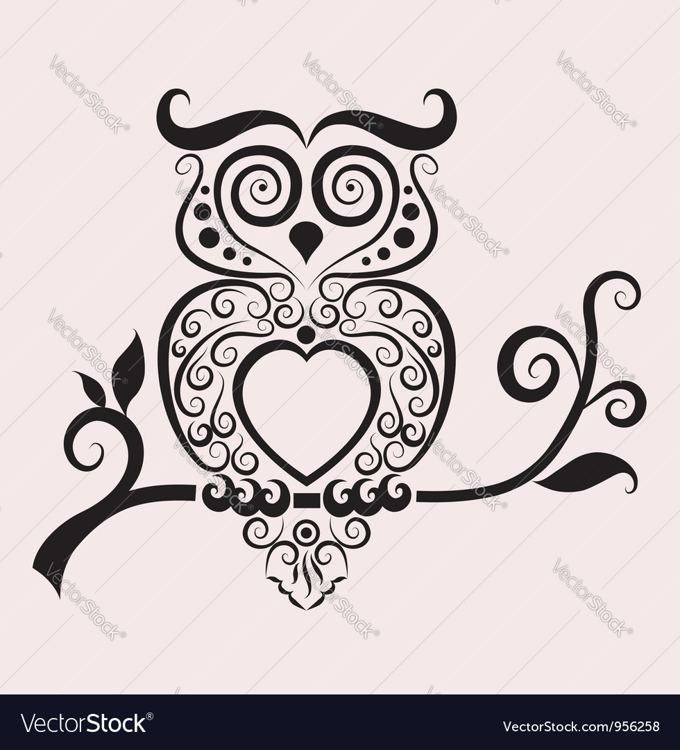 Owl ornament vector | Price: 1 Credit (USD $1)