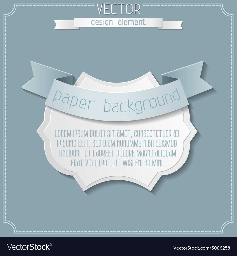 Paper badge background vector | Price: 1 Credit (USD $1)