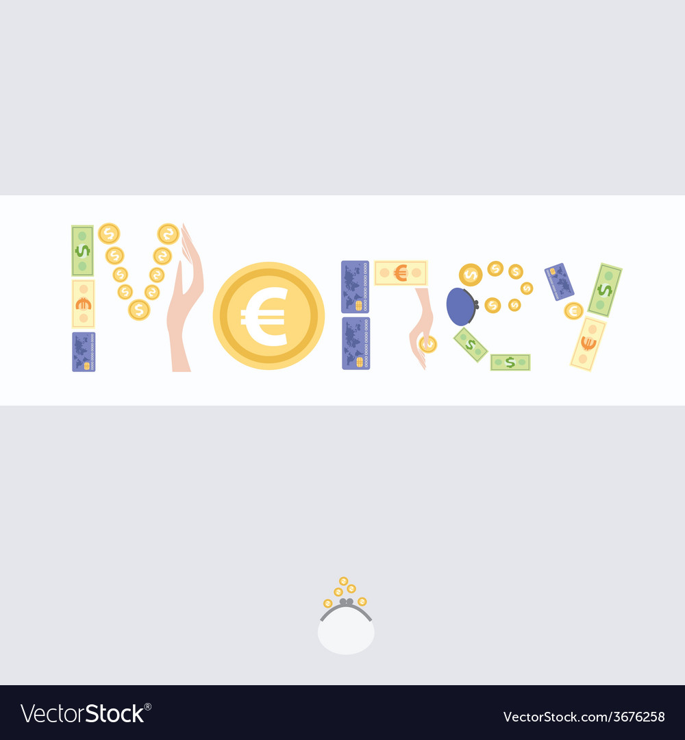 Postcard with picture of money vector | Price: 1 Credit (USD $1)