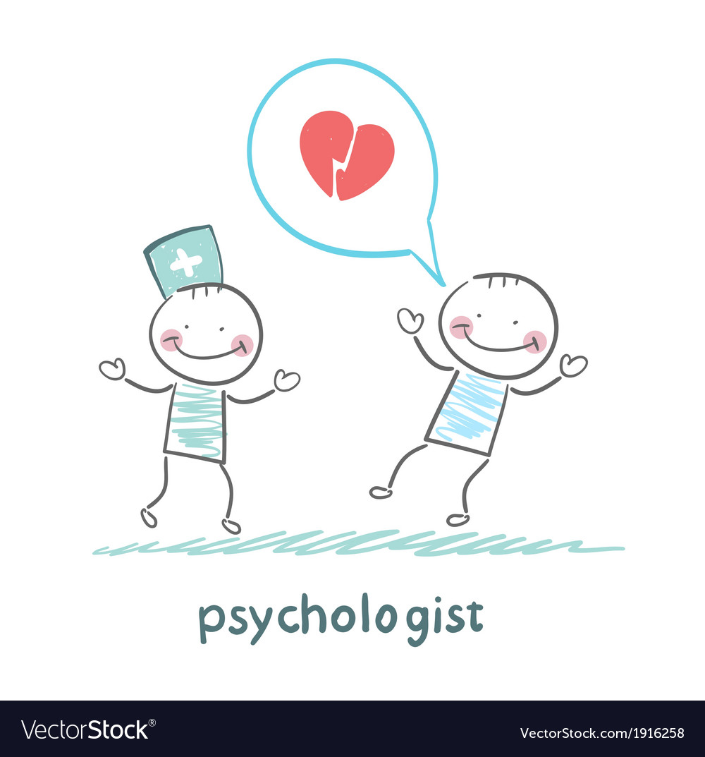 Psychologist is listening to the patient who vector | Price: 1 Credit (USD $1)