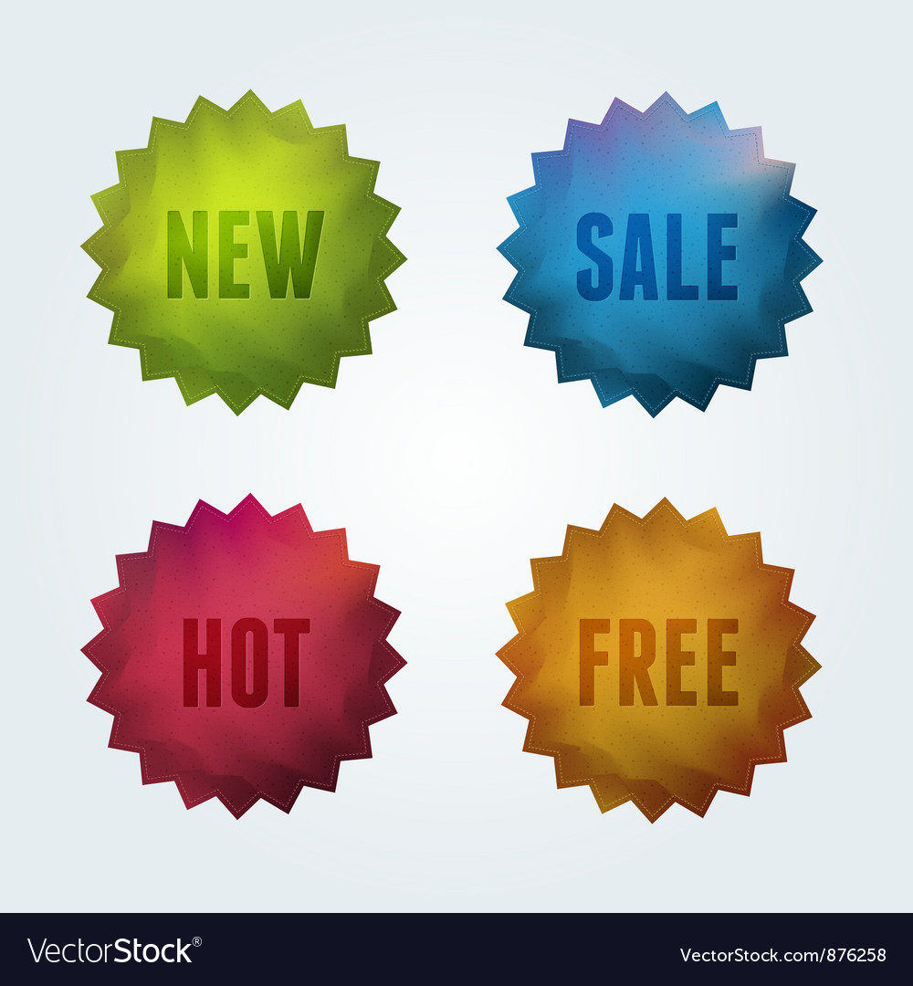 Set of 4 quality labels vector | Price: 1 Credit (USD $1)