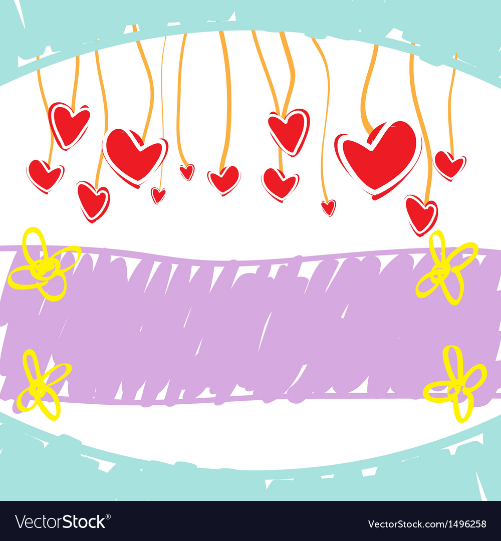 Sketch drawing love banner vector | Price: 1 Credit (USD $1)