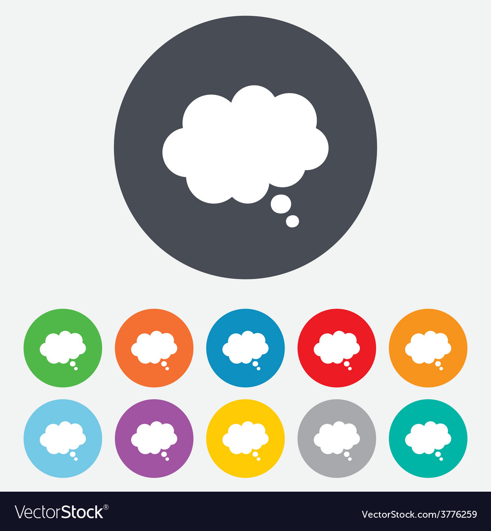 Comic speech bubble sign icon chat think symbol vector | Price: 1 Credit (USD $1)