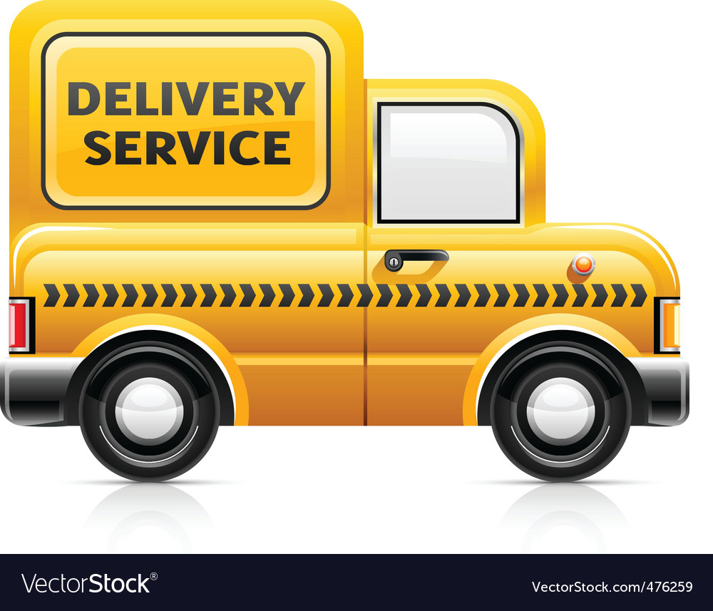 Delivery service car vector | Price: 1 Credit (USD $1)