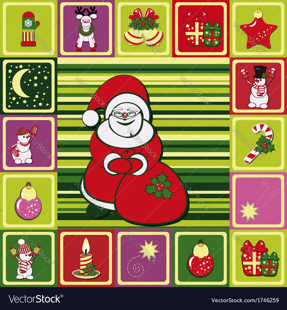 Frame christmas pattern vector | Price: 1 Credit (USD $1)