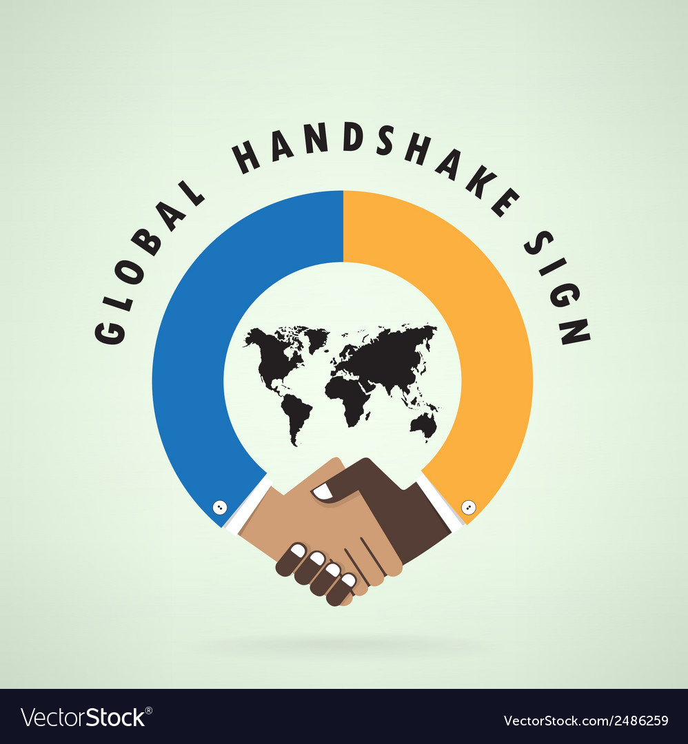 Handshake abstract sign design template vector | Price: 1 Credit (USD $1)