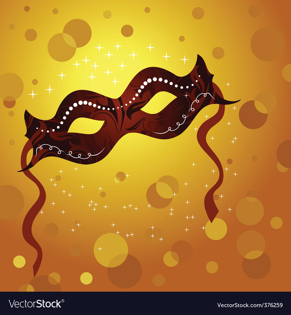 Holiday background with theater mask vector | Price: 1 Credit (USD $1)
