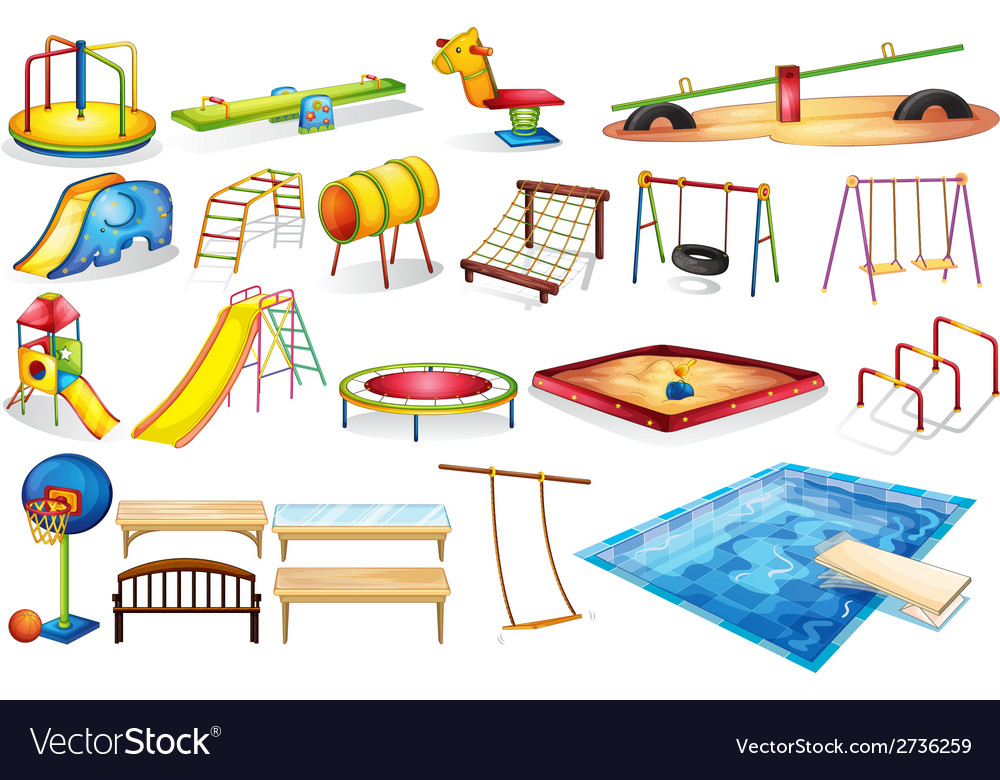 Playground equipments vector | Price: 1 Credit (USD $1)