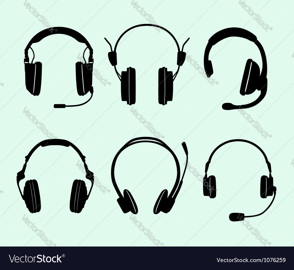 Set of headphones vector | Price: 1 Credit (USD $1)