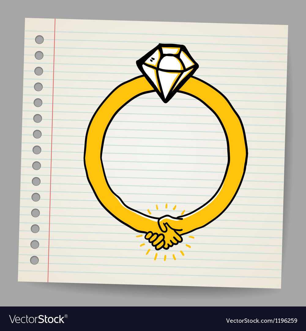 Sketchy diamond ring vector | Price: 1 Credit (USD $1)