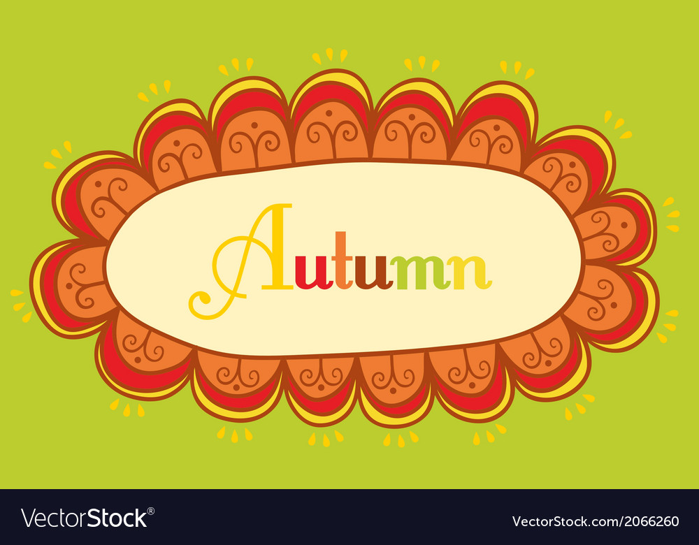 Abstract frame for your text autumnal theme header vector | Price: 1 Credit (USD $1)