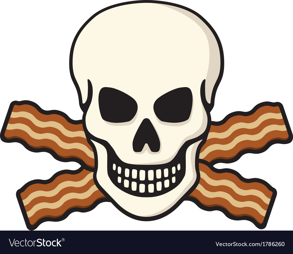 Bacon skull vector | Price: 1 Credit (USD $1)