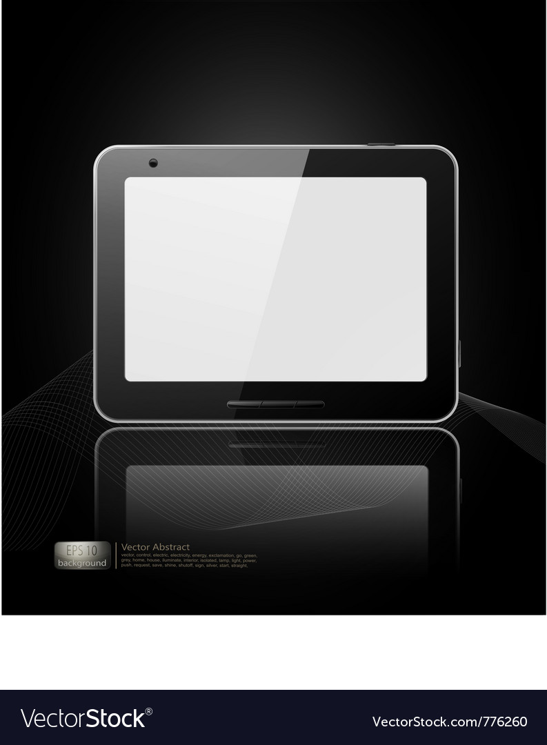 Black tablet pad vector | Price: 1 Credit (USD $1)