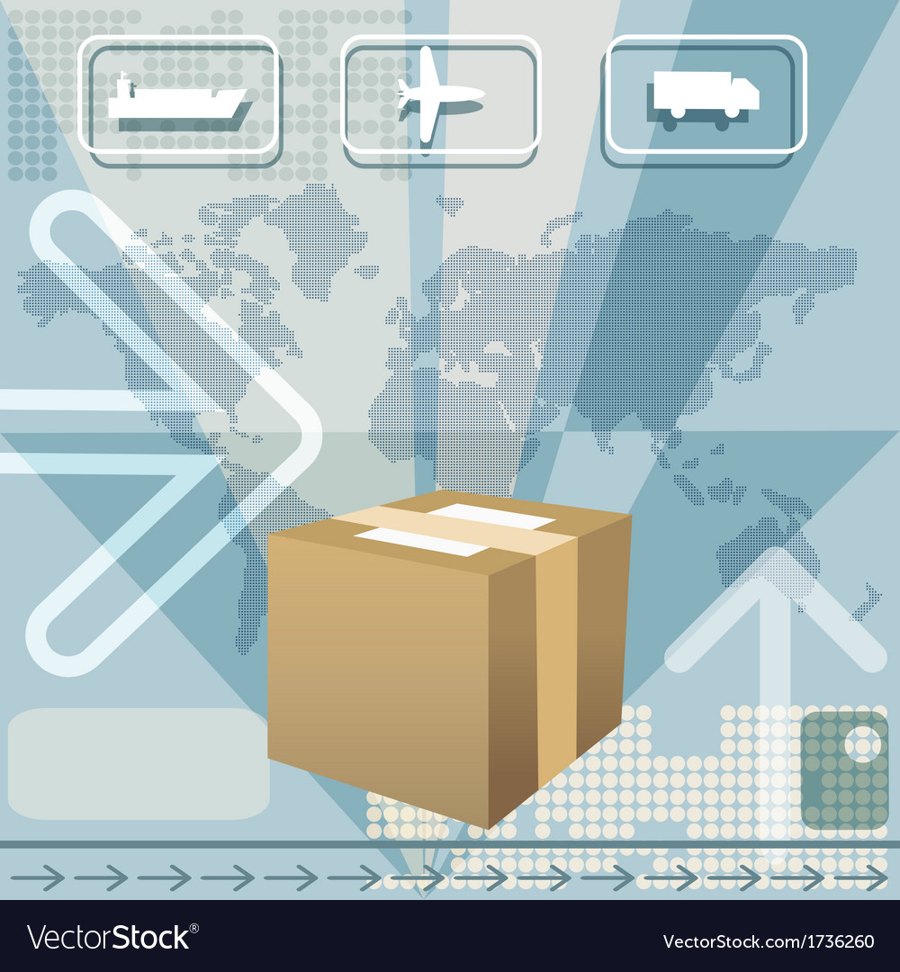 Cargo delivery vector | Price: 1 Credit (USD $1)