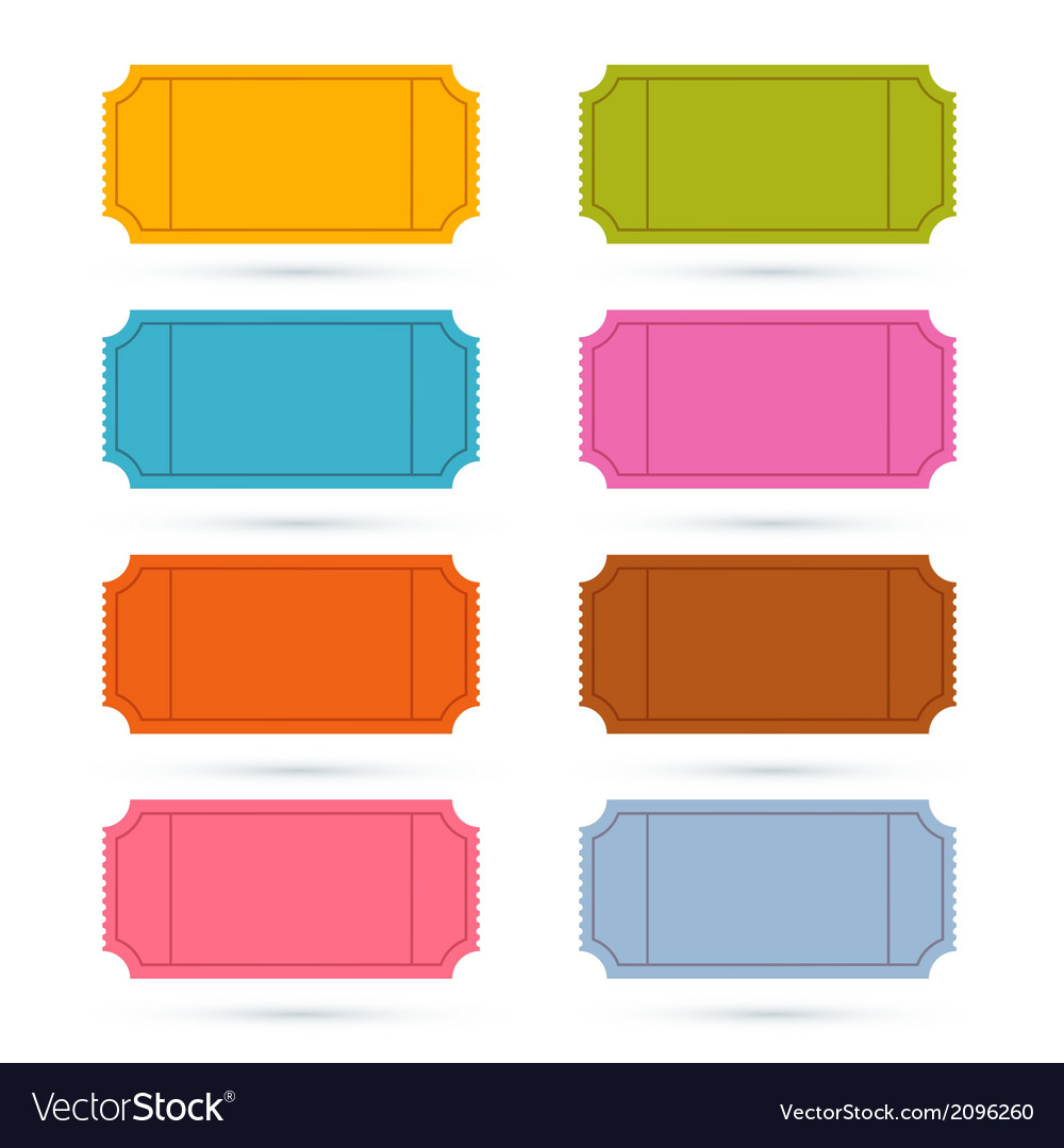 Colorful ticket set vector   Price: 1 Credit (USD $1)