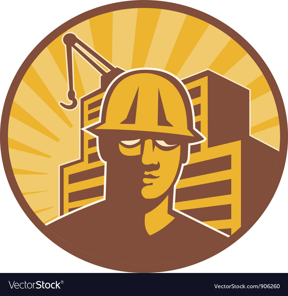 Construction worker building vector | Price: 1 Credit (USD $1)