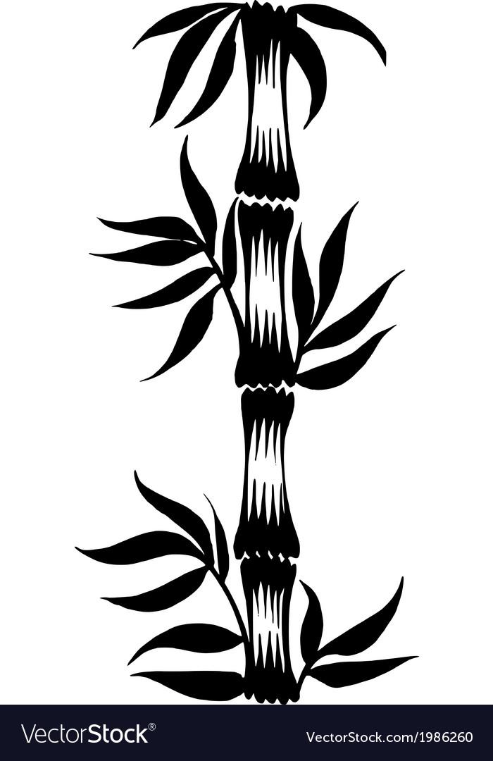 Decorative silhouette bamboo vector | Price: 1 Credit (USD $1)