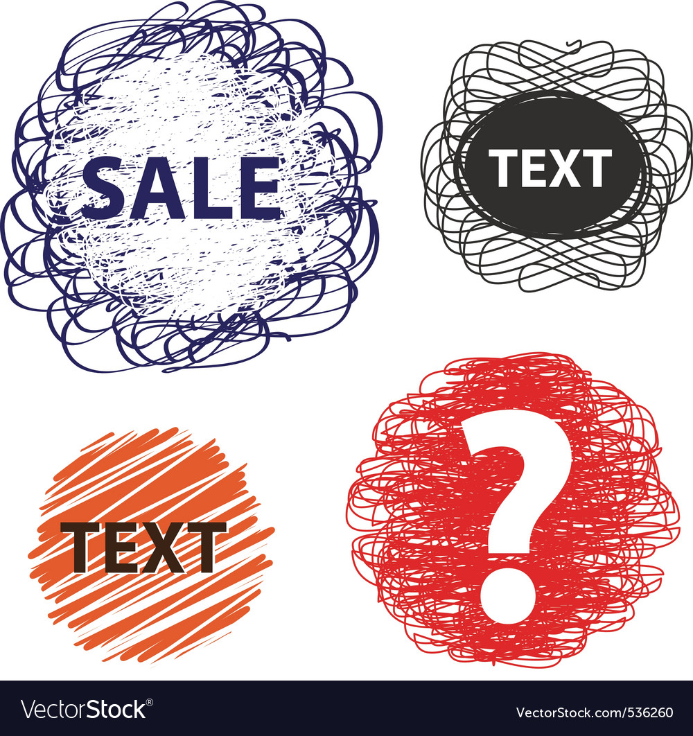 Hand drawn speech and thought banners vector | Price: 1 Credit (USD $1)