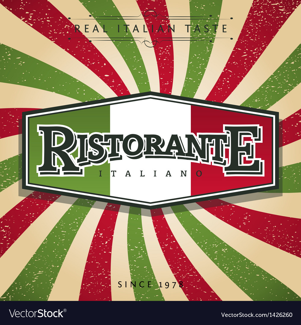 Italian restaurant vector | Price: 1 Credit (USD $1)