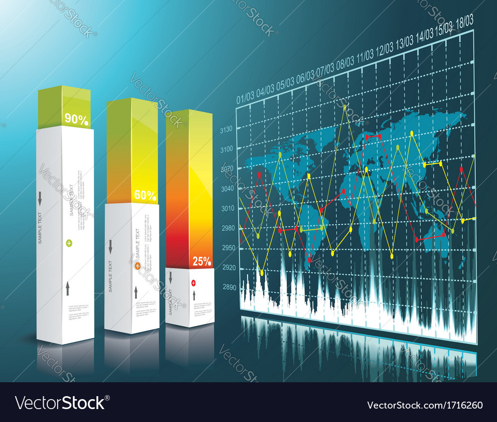Modern box design minimal style infographic vector | Price: 1 Credit (USD $1)