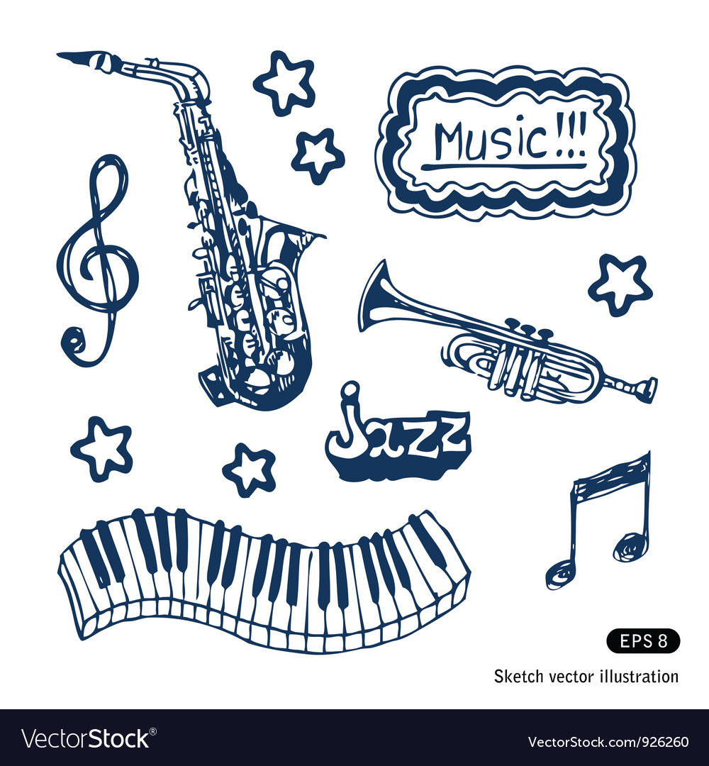 Music elements set vector | Price: 3 Credit (USD $3)