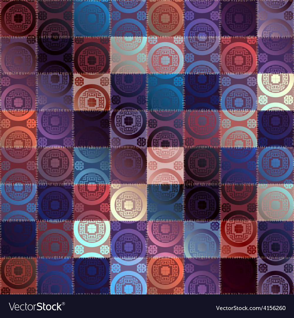Patchwork in chinese dtyle and silk effect vector | Price: 1 Credit (USD $1)