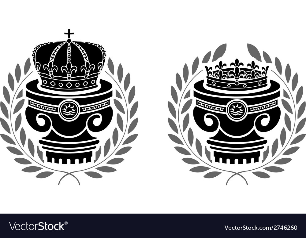 Pedestals of crowns vector | Price: 1 Credit (USD $1)