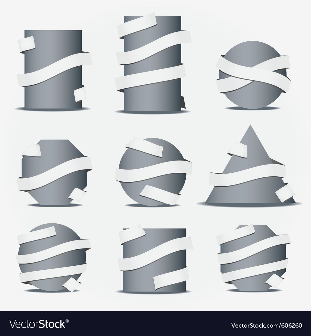Ribbon icons vector | Price: 3 Credit (USD $3)