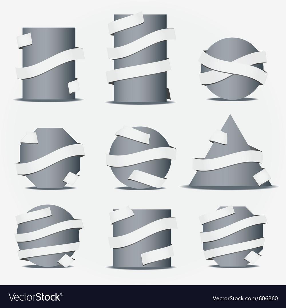Ribbon icons vector | Price: 3 Credit (USD $3)
